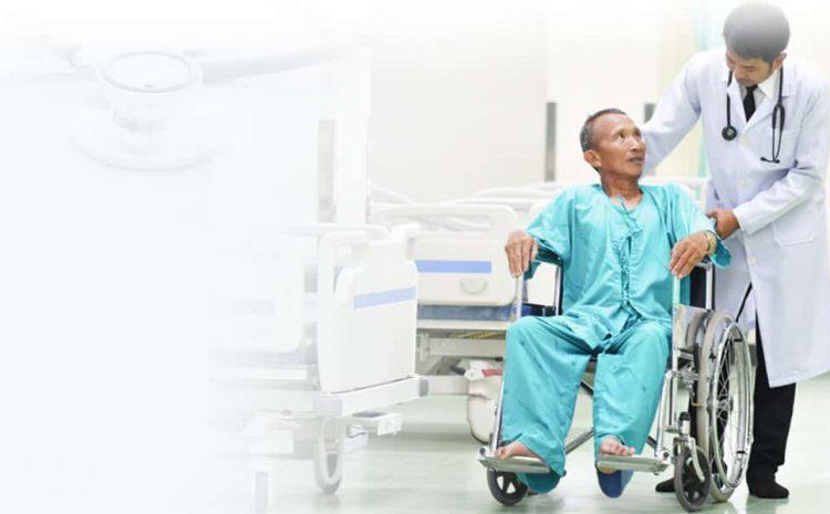 Hospital doctors examine patients so that